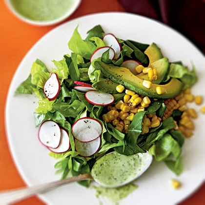 light and lovely. avocado salad.