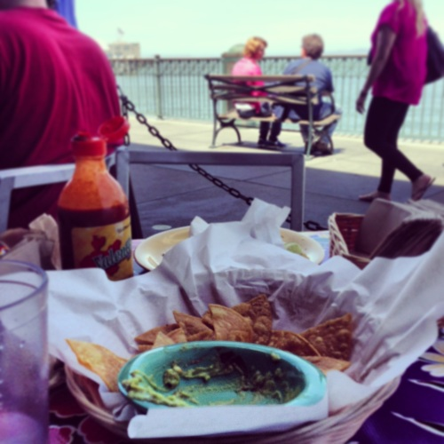 chips guac and the bay. happiness.